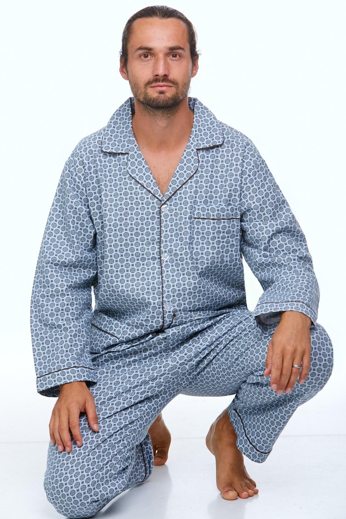 Pánské pyžamo teplé 1P0714