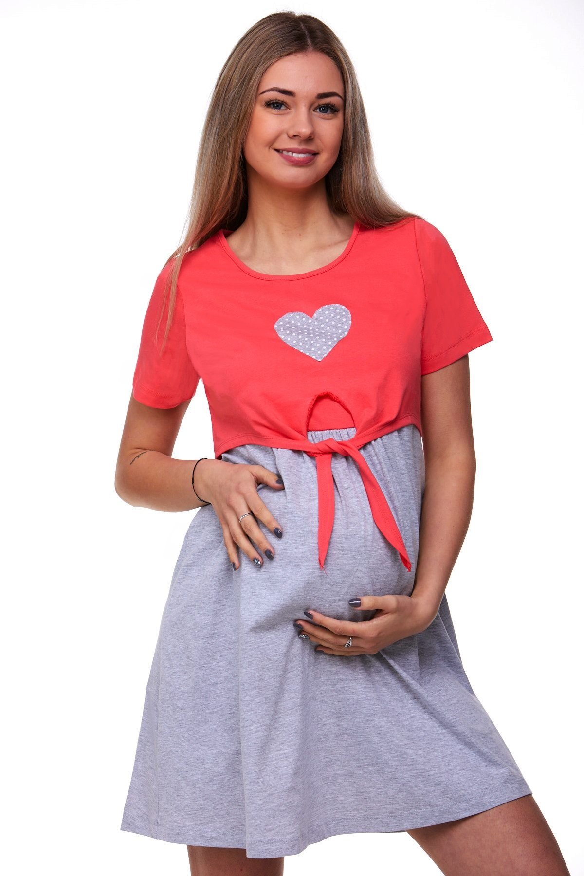 Těhotenská a kojící košilka diskrétní 1C1697
