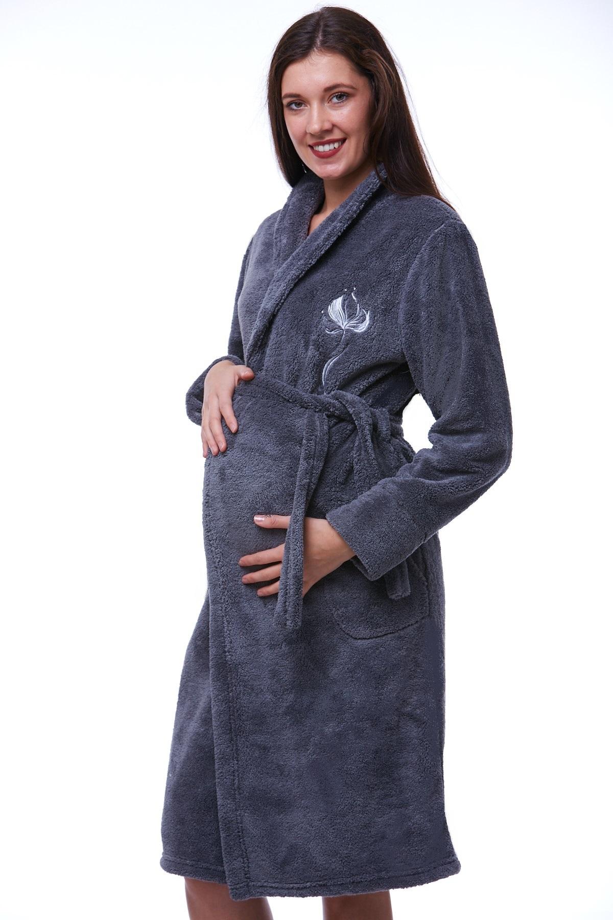 Těhotenský župan huňatý 1W0204