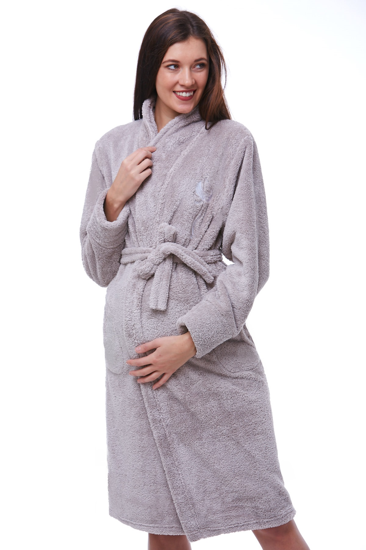 Těhotenský župan huňatý 1W0203