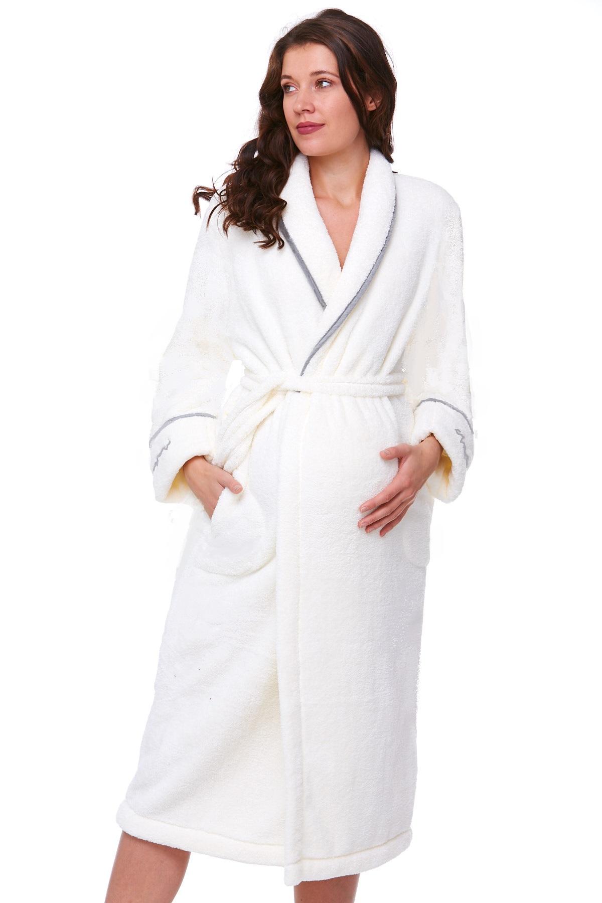 Těhotenský župan huňatý 1W0243