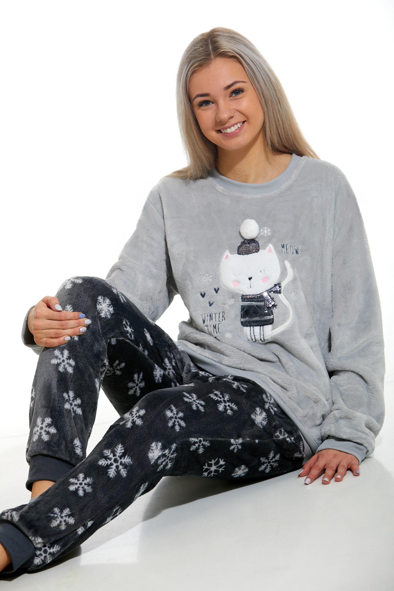 Huňaté pyžamo pro ženy 1Z0887