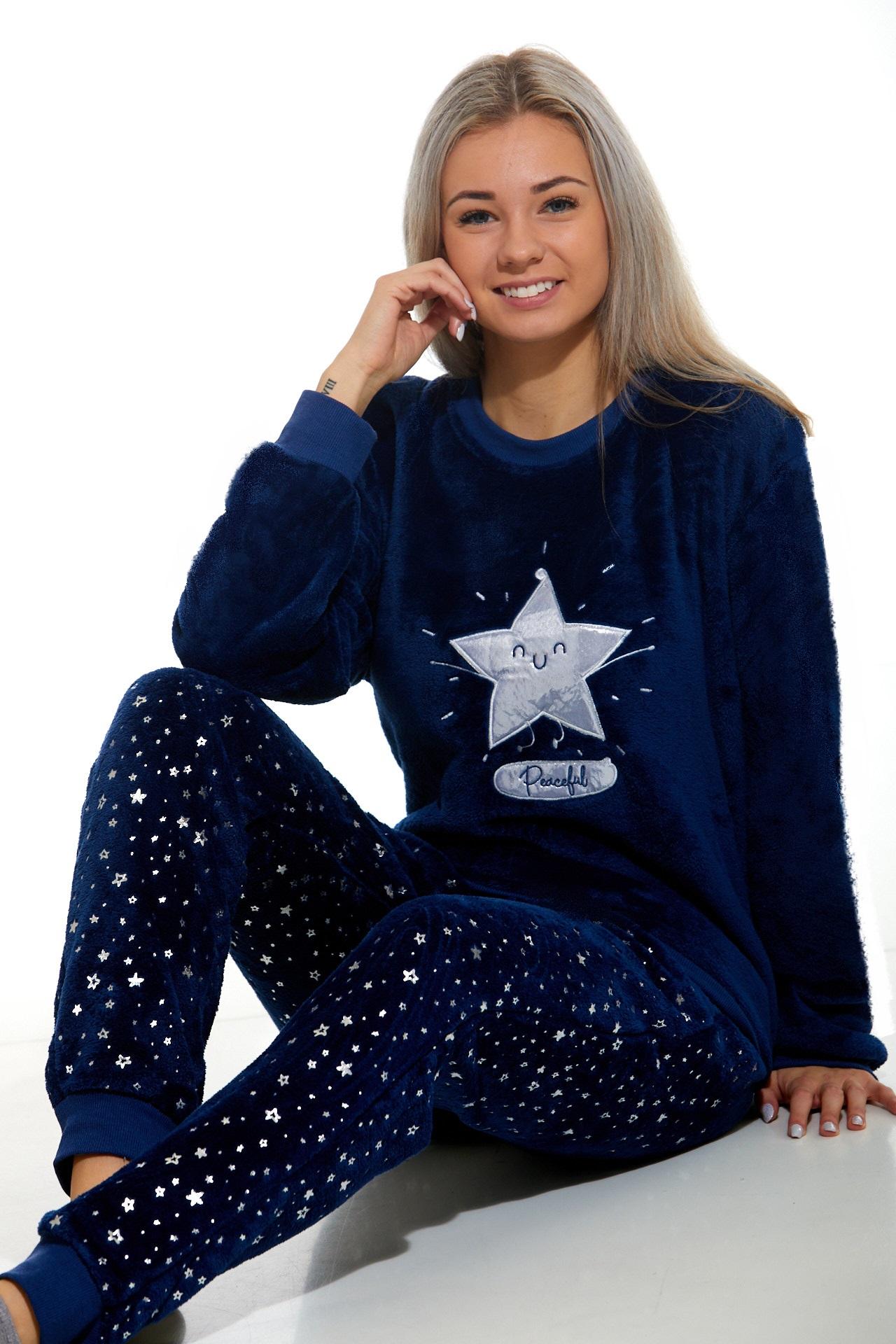 Huňaté pyžamo pro ženy