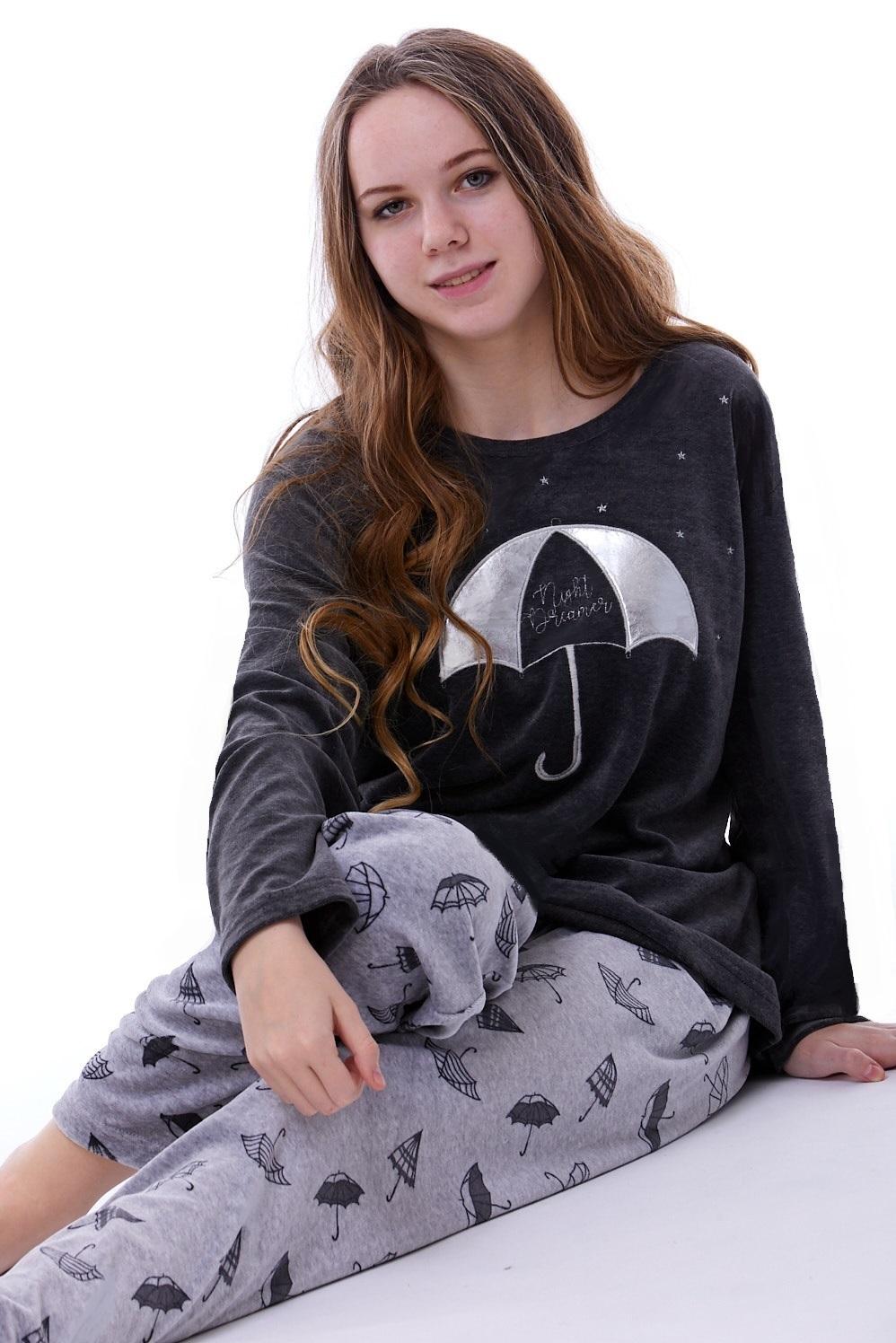 Teplé dámské pyžamo 1B0782