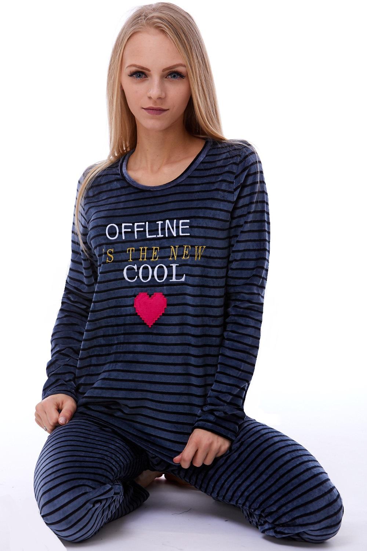 Teplé dámské pyžamo 1B0778