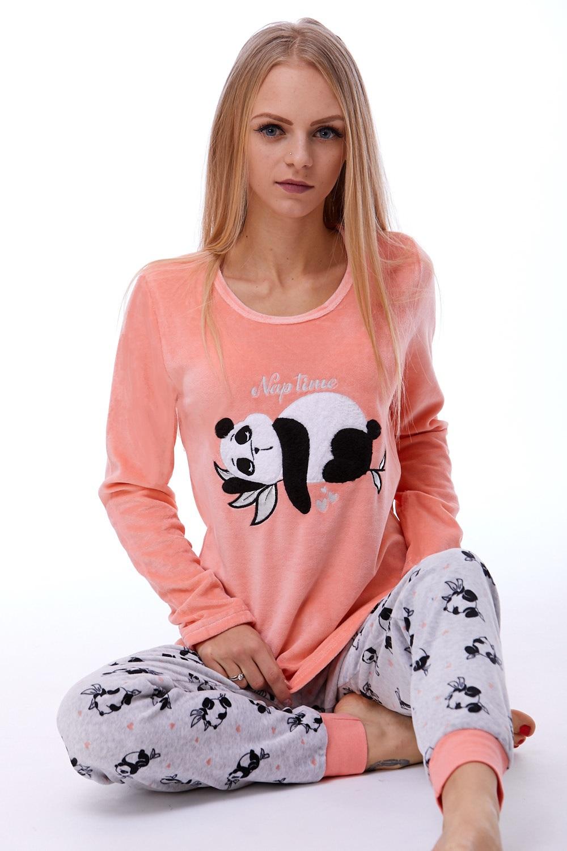 Teplé dámské pyžamo 1B0777