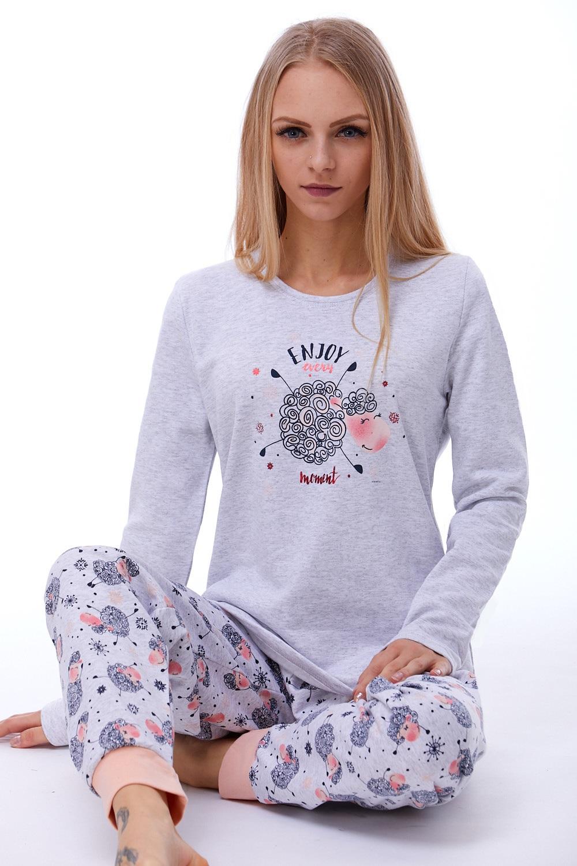 Teplé dámské pyžamo 1B0775