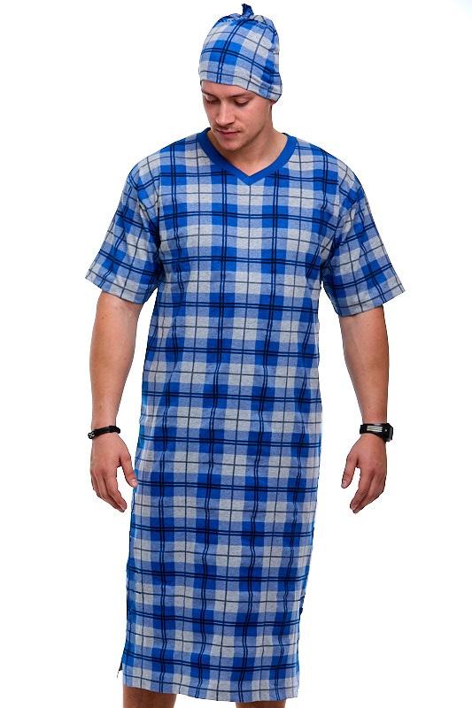 Pánské noční košile s čepičkou 1P0783