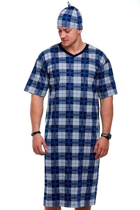 Pánské noční košile s čepičkou 1P0782