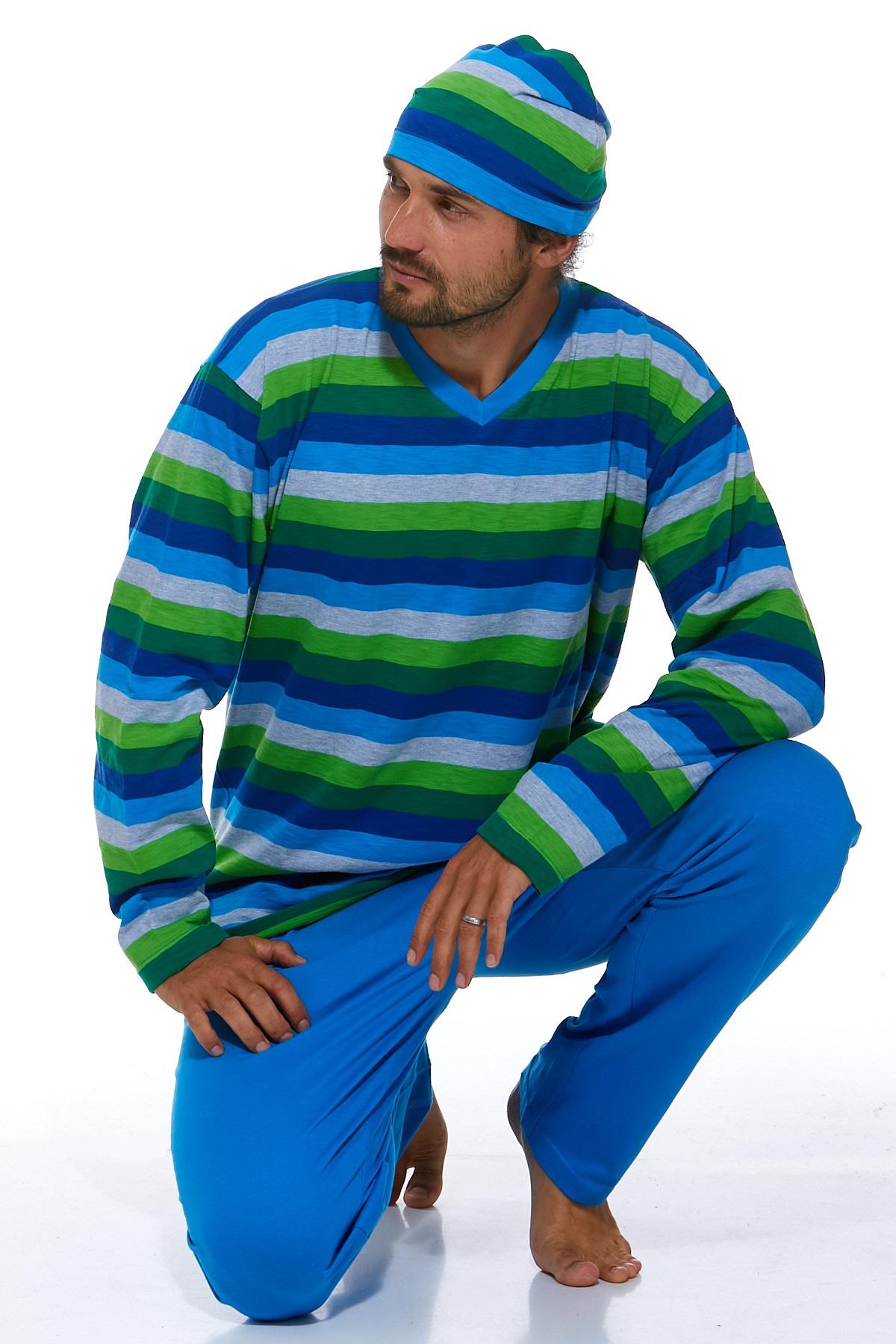 Pyžamo pro muže s čepičkou 1P0788