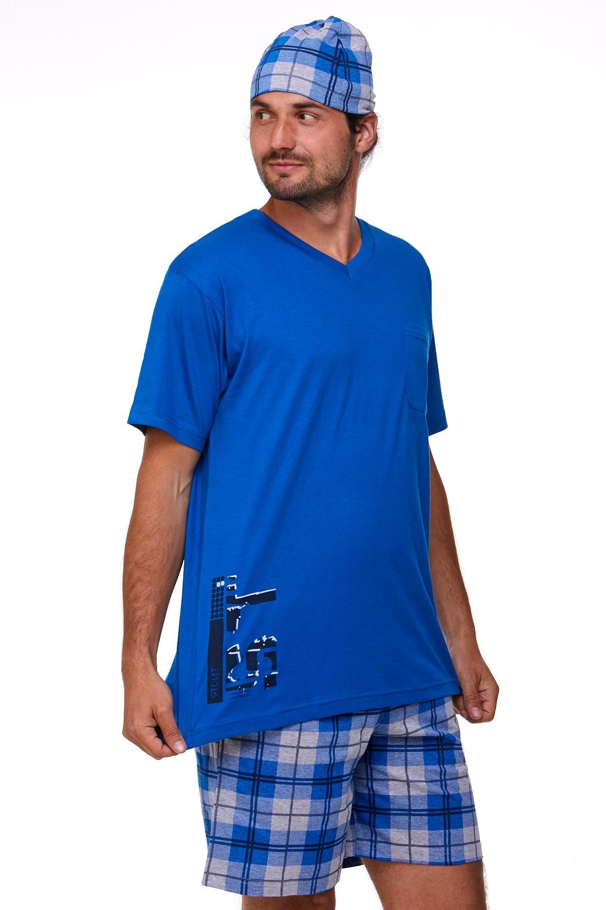 Pyžamo pro muže s čepičkou 1P0801