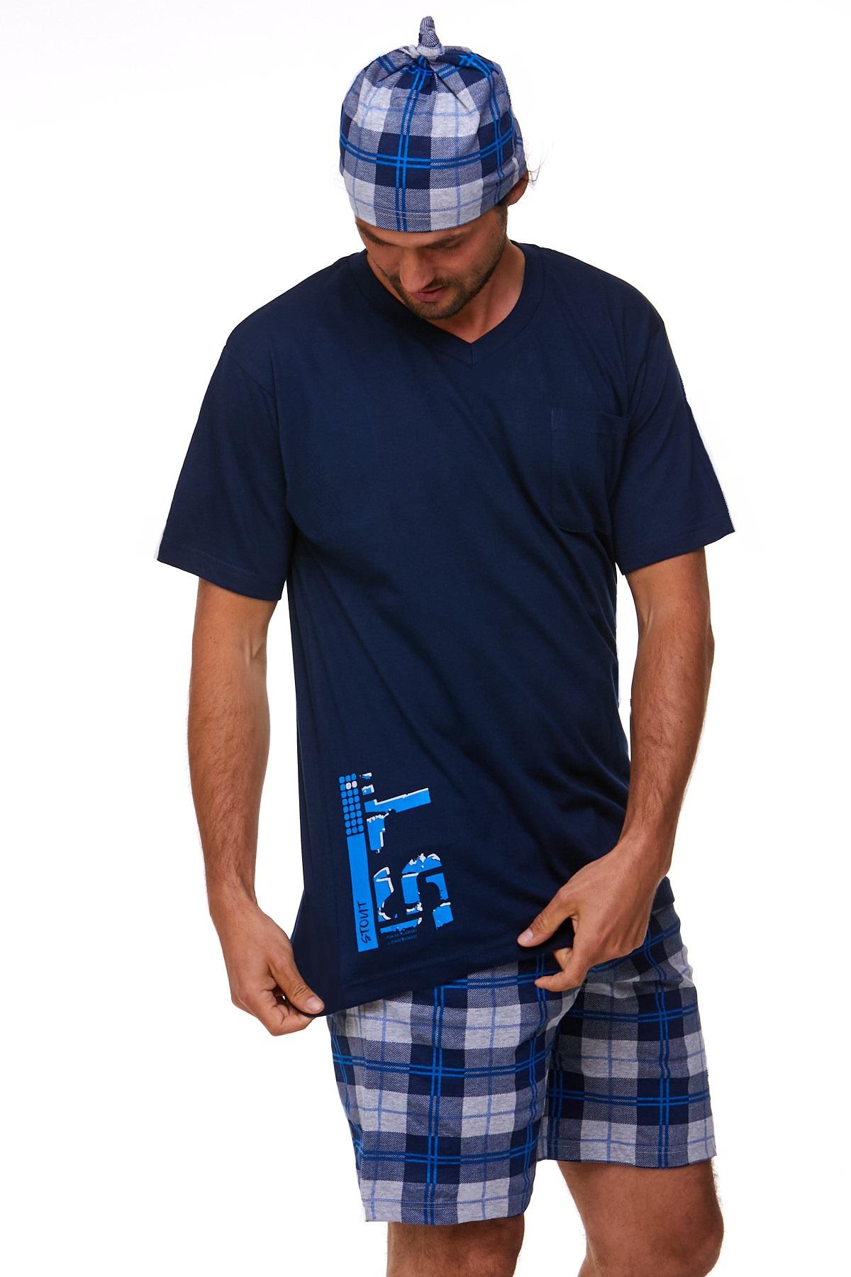 Pyžamo pro muže s čepičkou 1P0800