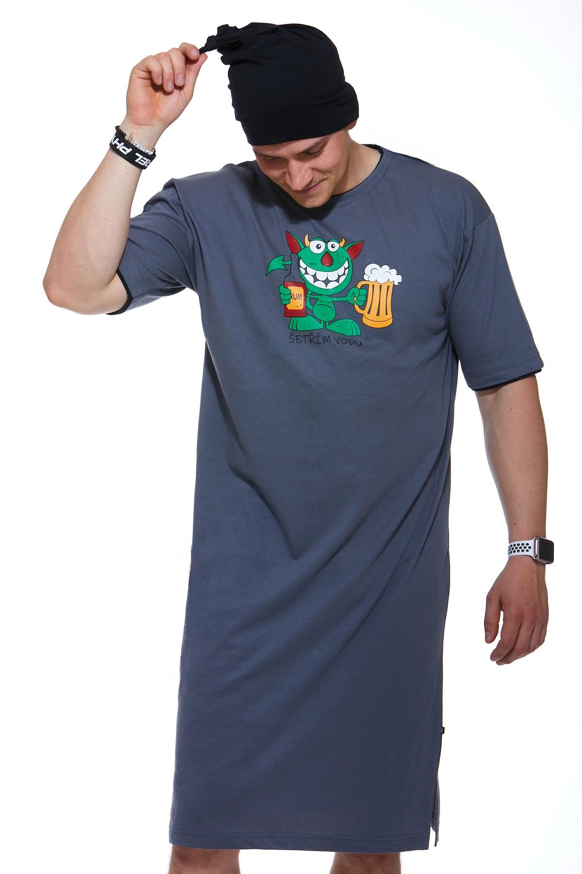 Pánské noční košile s čepičkou 1P0834