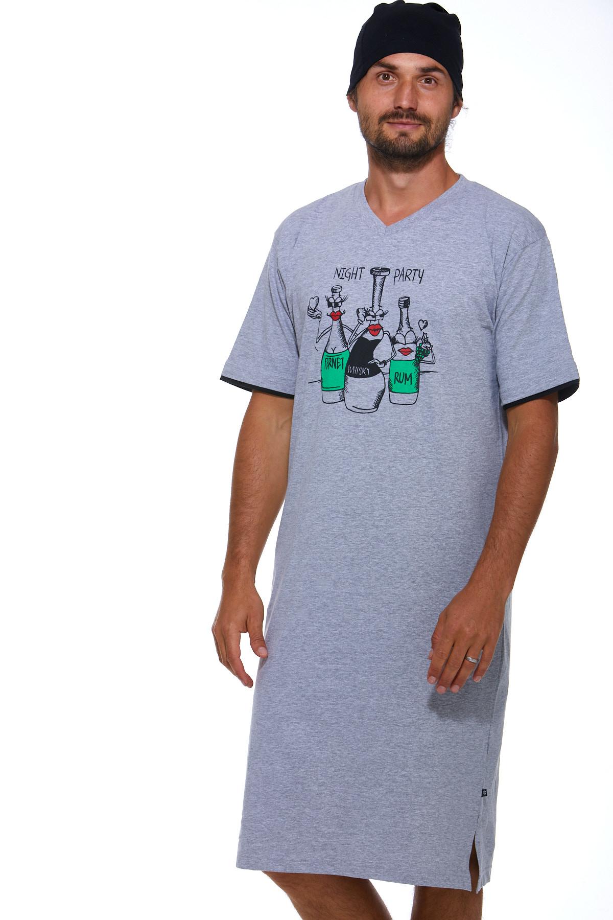 Pánské noční košile s čepičkou 1P0828
