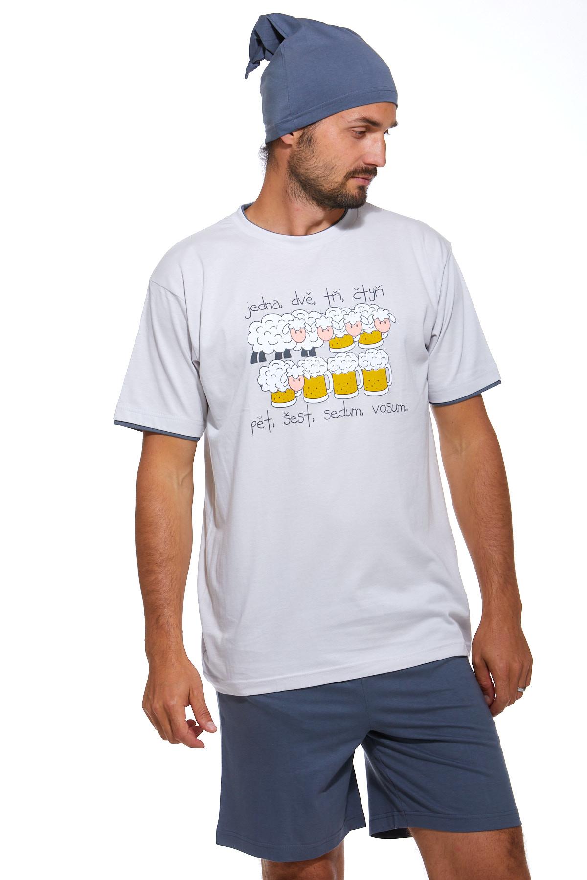 Pyžamo pro muže s čepičkou 1P0832