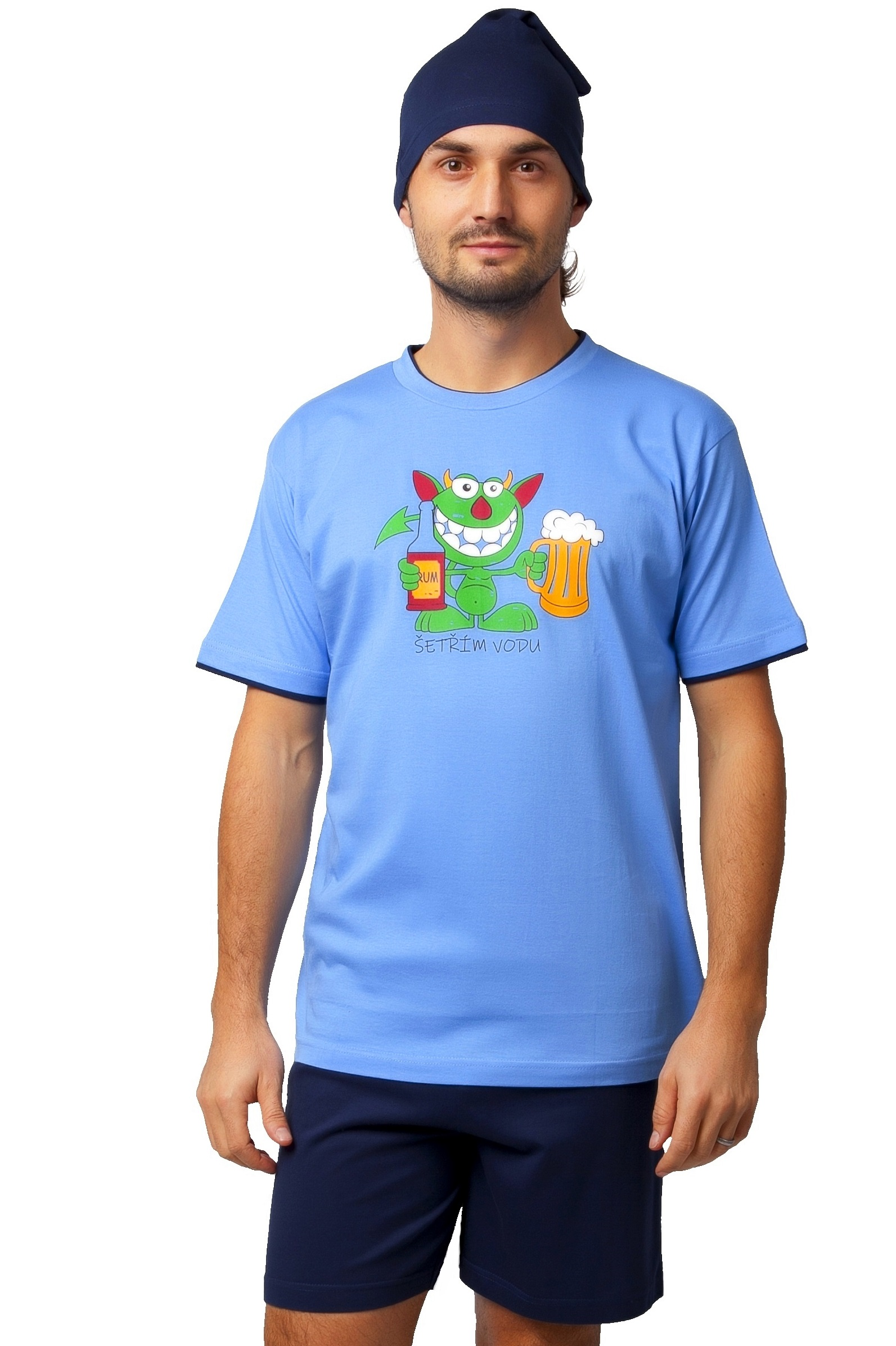 Pyžamo pro muže s čepičkou 1P0826