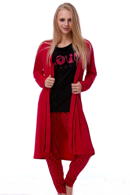 Luxusní pyžamo a župan v dokonalém kompletu pro ženy 1K9388