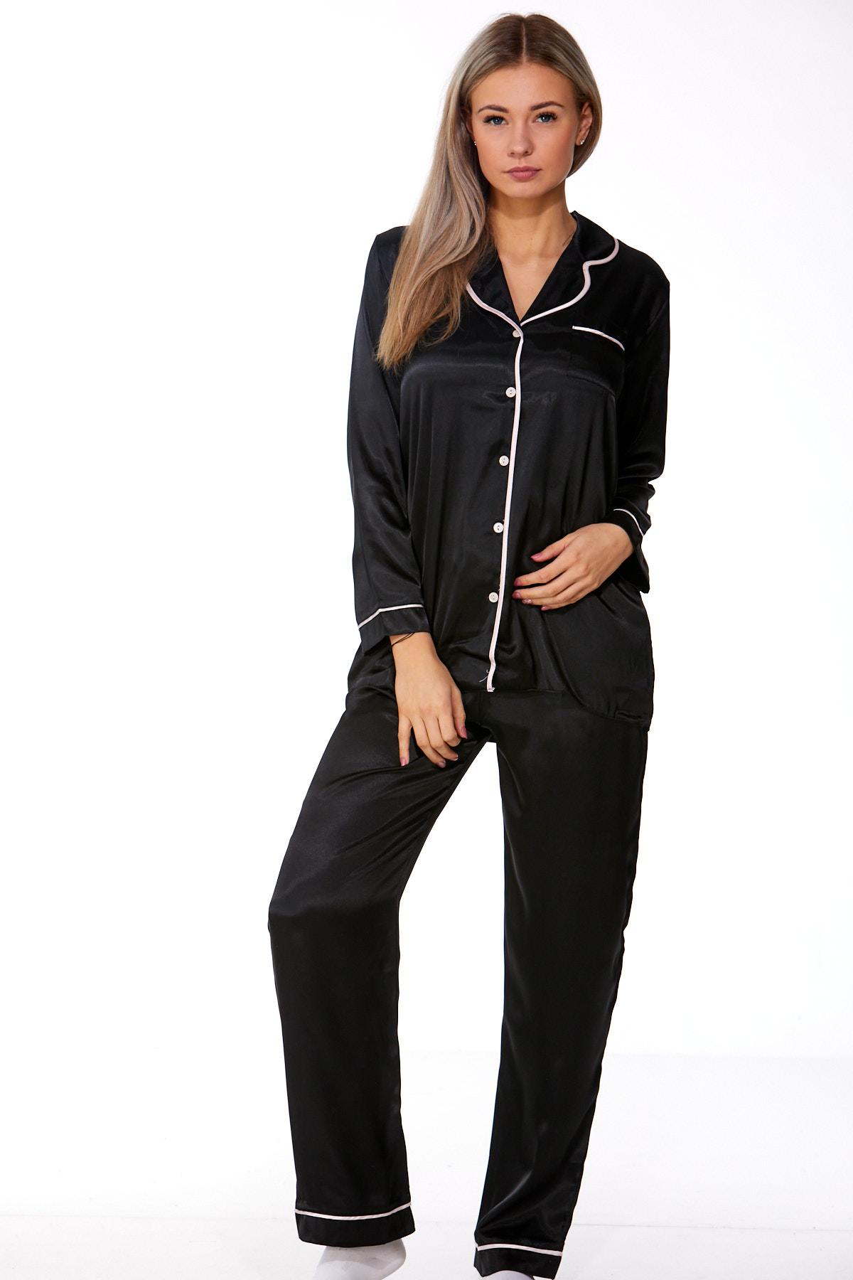 Elegantní saténové pyžamo pro ženy 1E8272