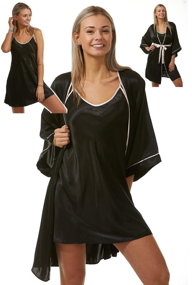Luxusní košilka a župan v dokonalém kompletu pro ženy 1E8273