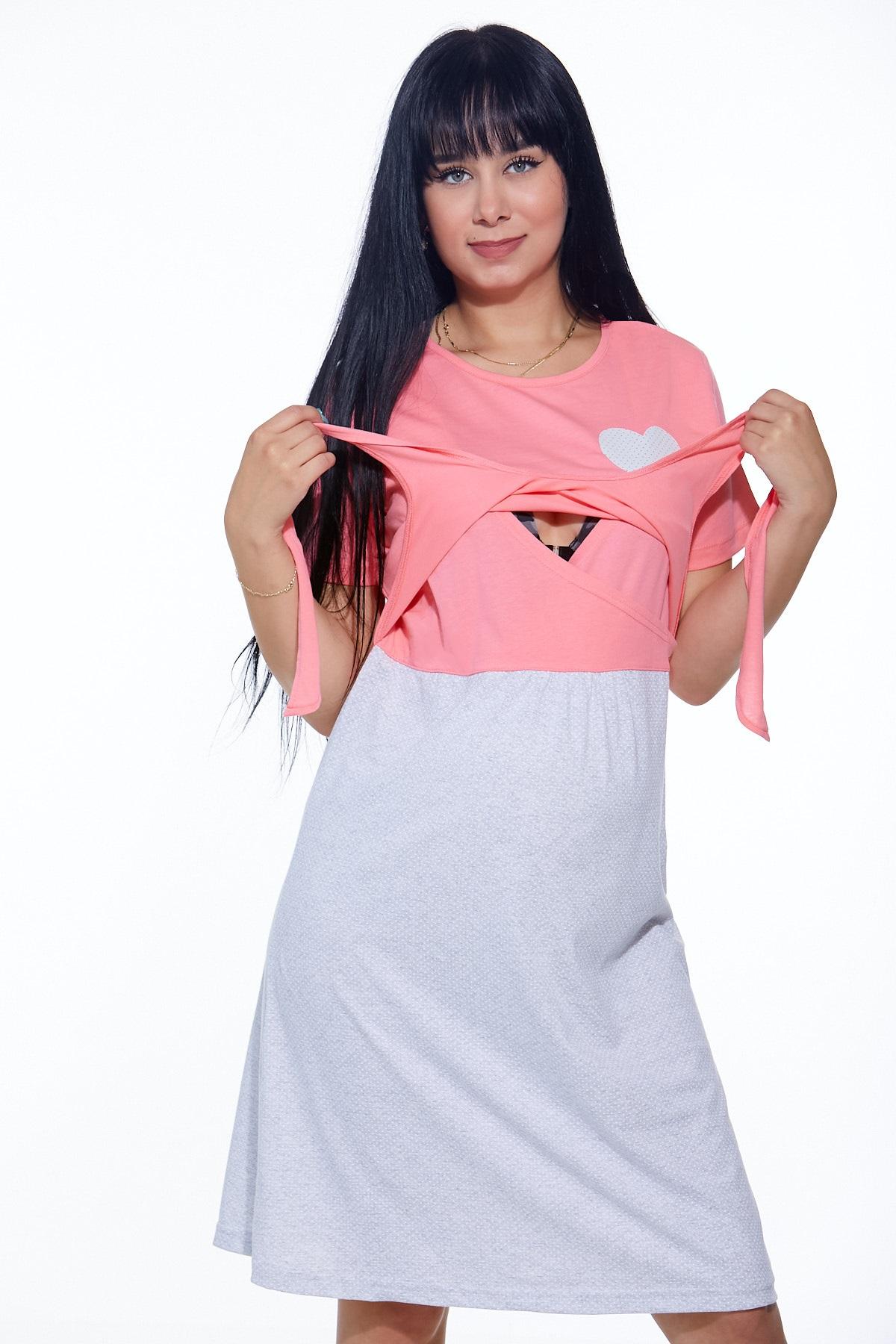 Diskrétní kojící košilka do porodnice 1C2156