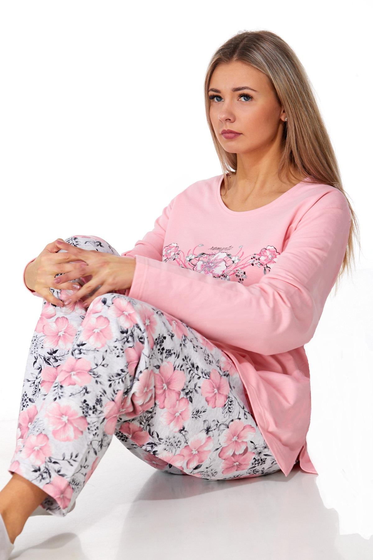 Dámské pyžamo comfort teplé 1B1016