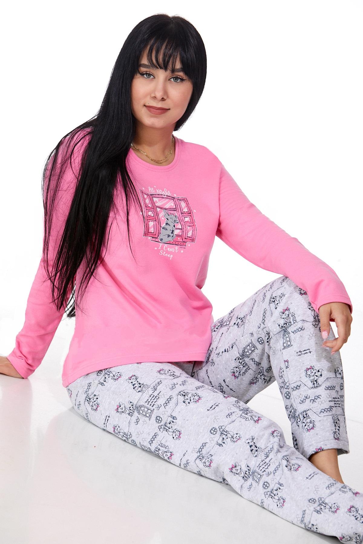Dámské pyžamo comfort teplé 1B0995