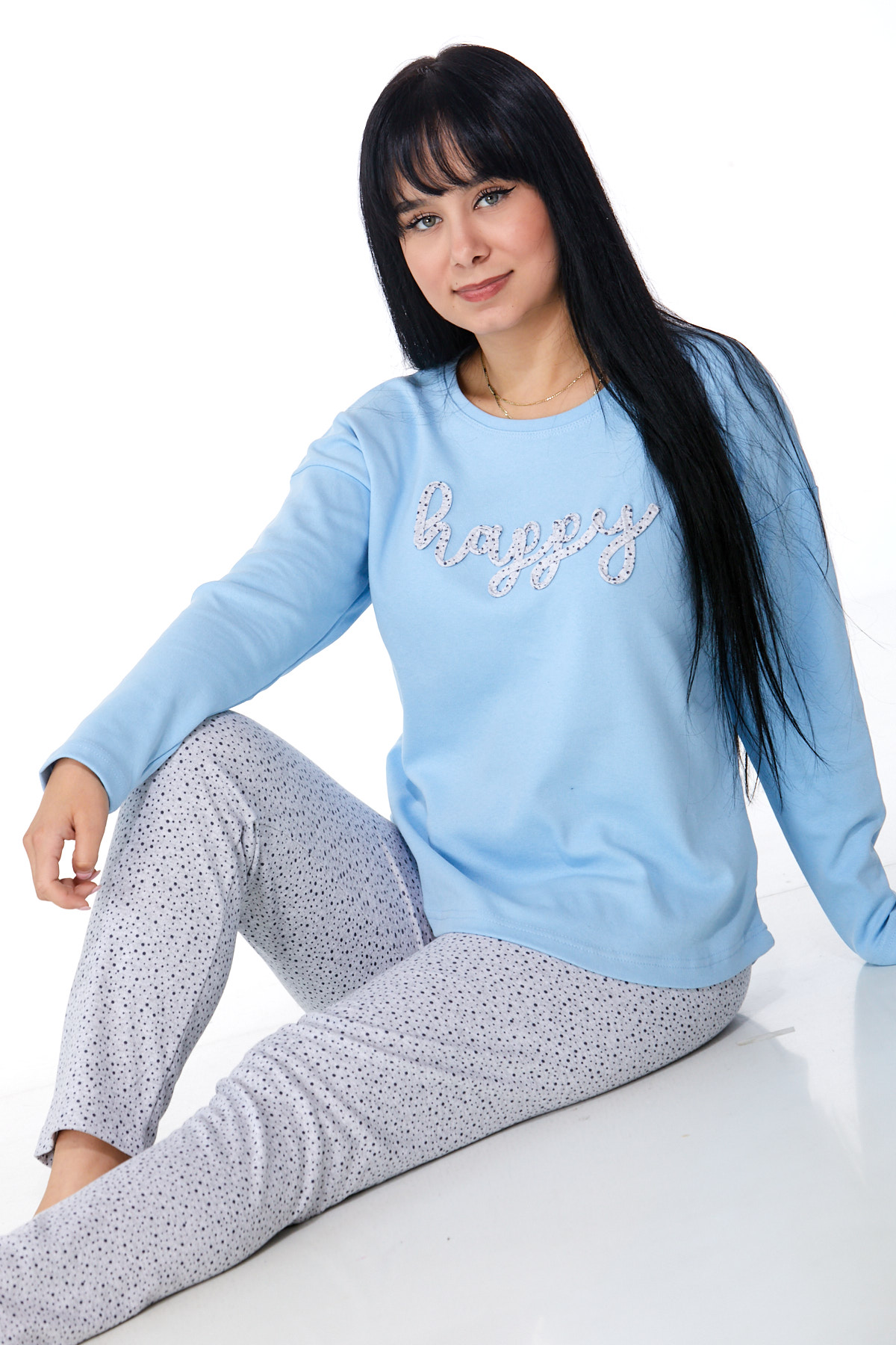 Dámské pyžamo comfort teplé 1B0987