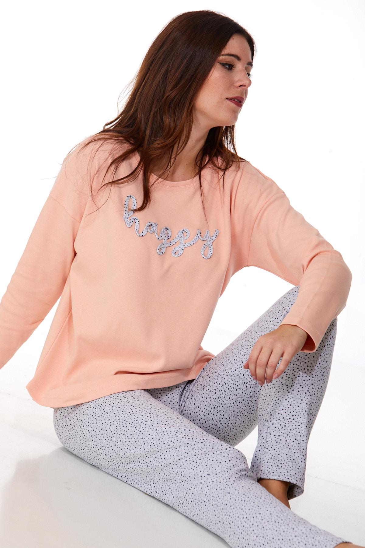 Dámské pyžamo comfort teplé 1B0981