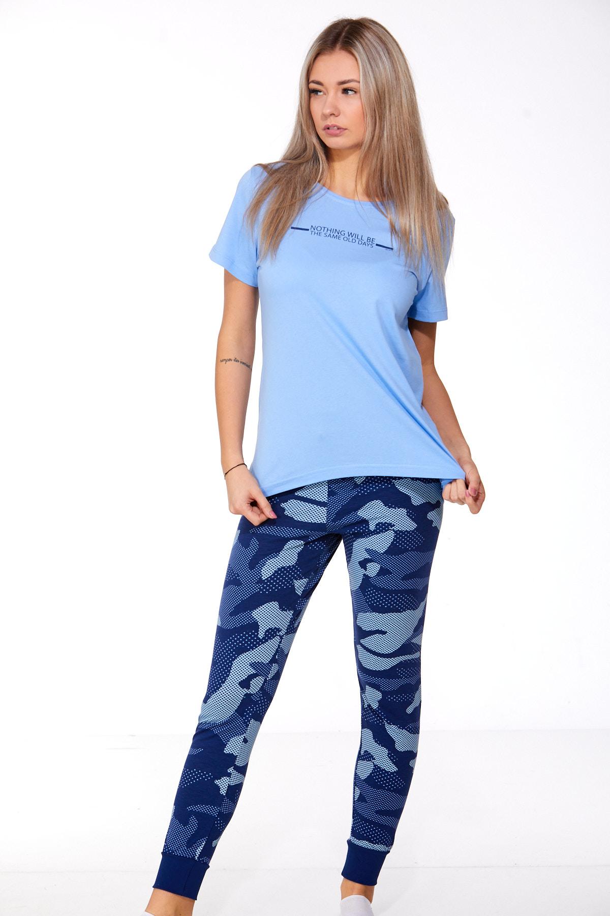 Dámské pyžamo comfort legins 1B0931