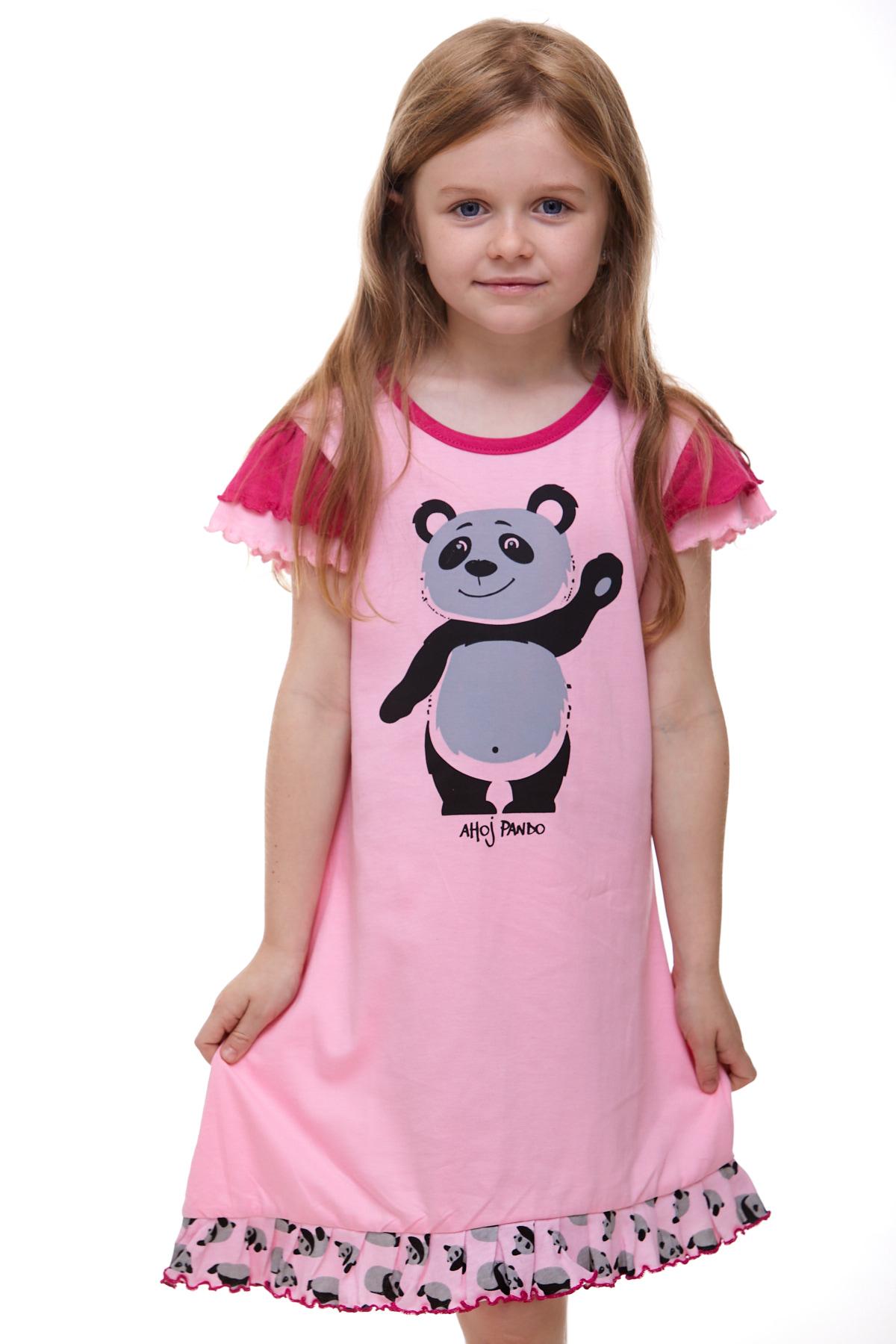 Dívčí noční košilka panda 1F0526