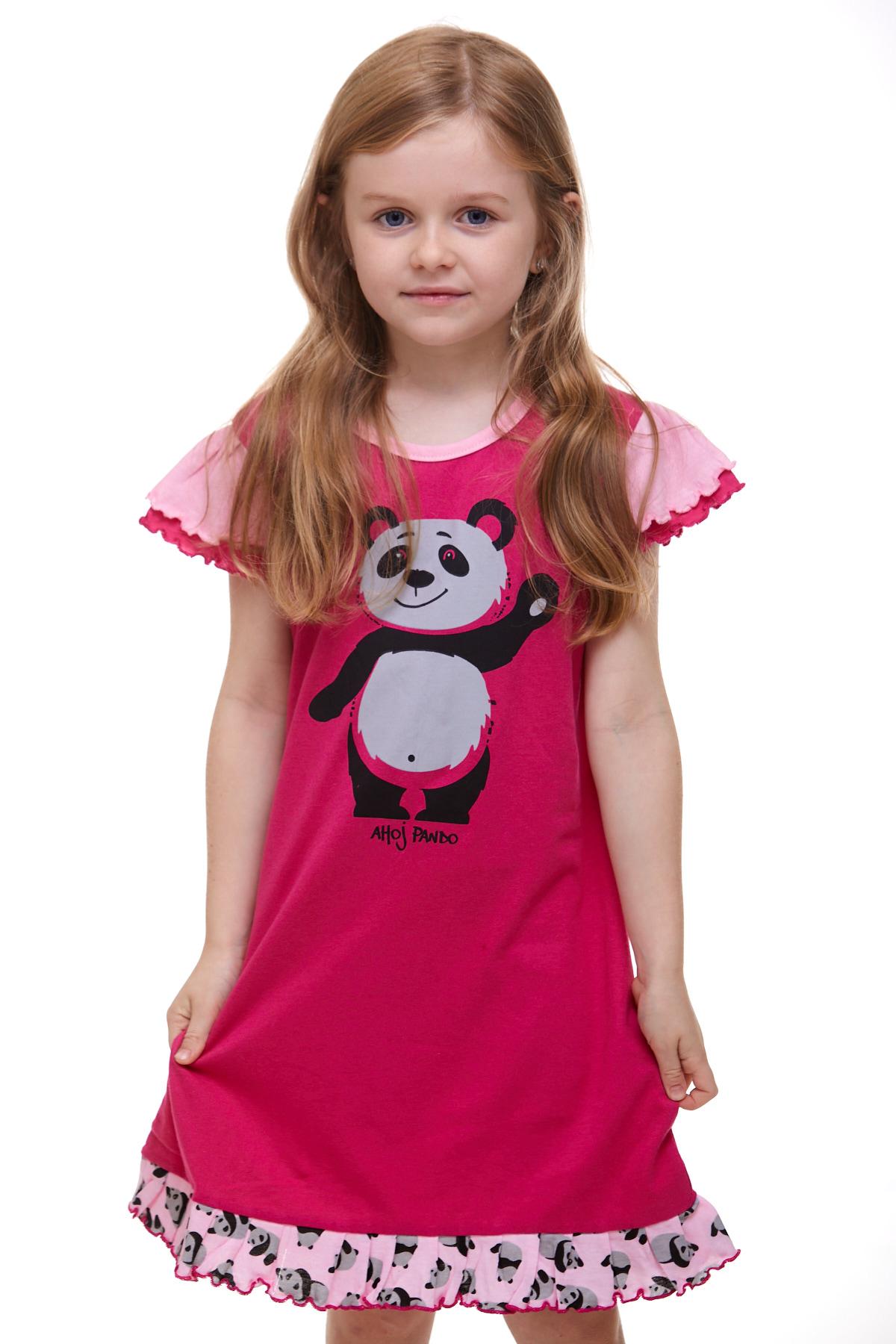 Dívčí noční košilka panda 1F0525