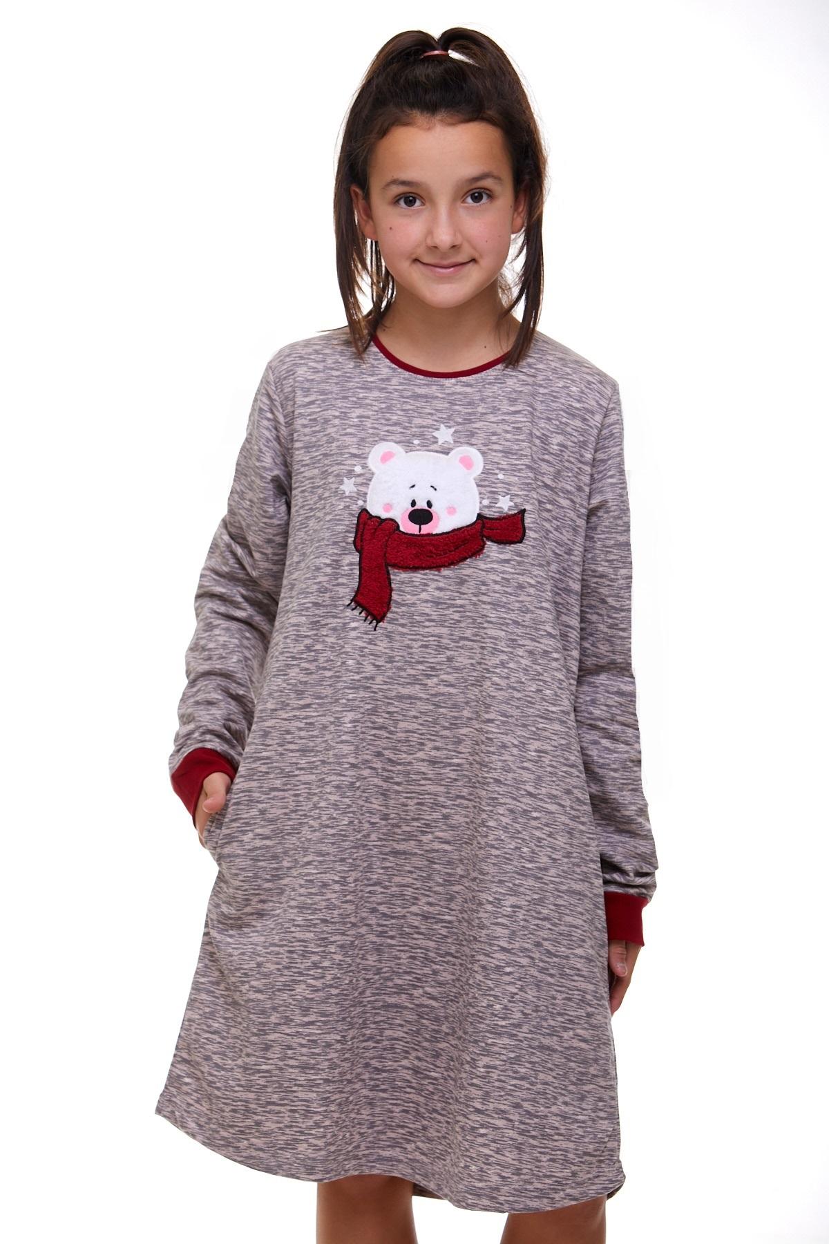 Dívčí noční košilka teplá 1F0498