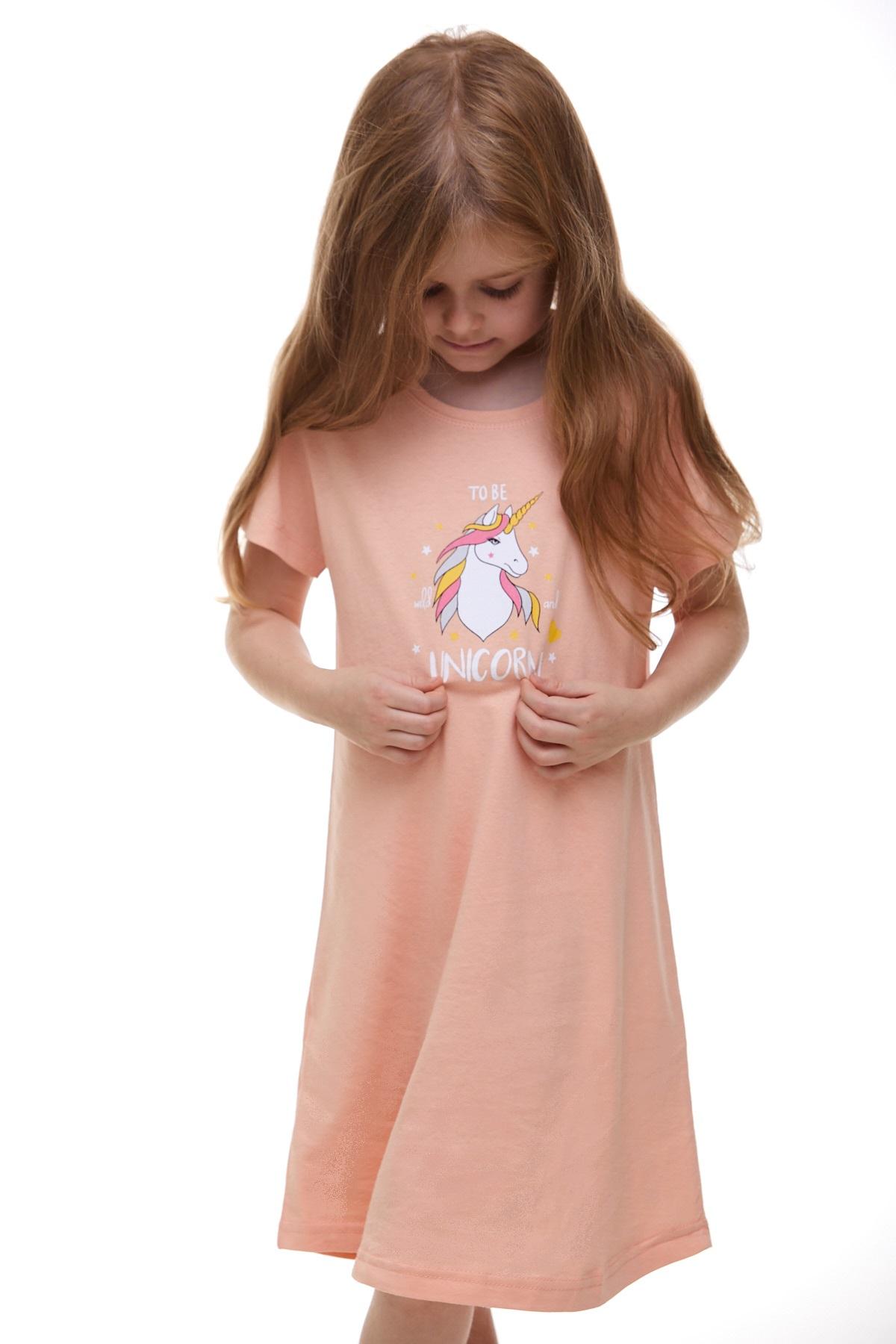 Dívčí noční košilka Jednorožec 1F0490