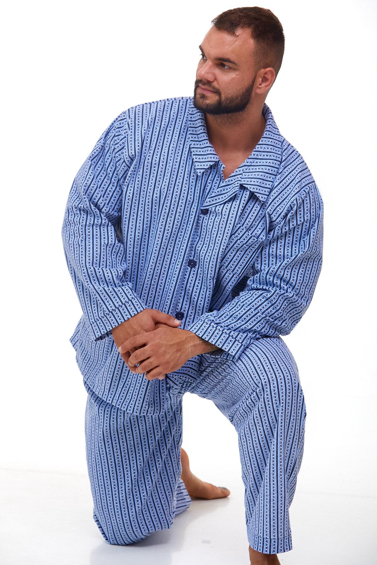 Pánské pyžamo teplé 1P1011