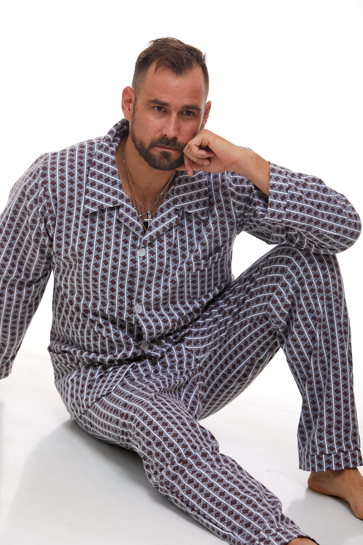 Pánské pyžamo teplé 1P1009