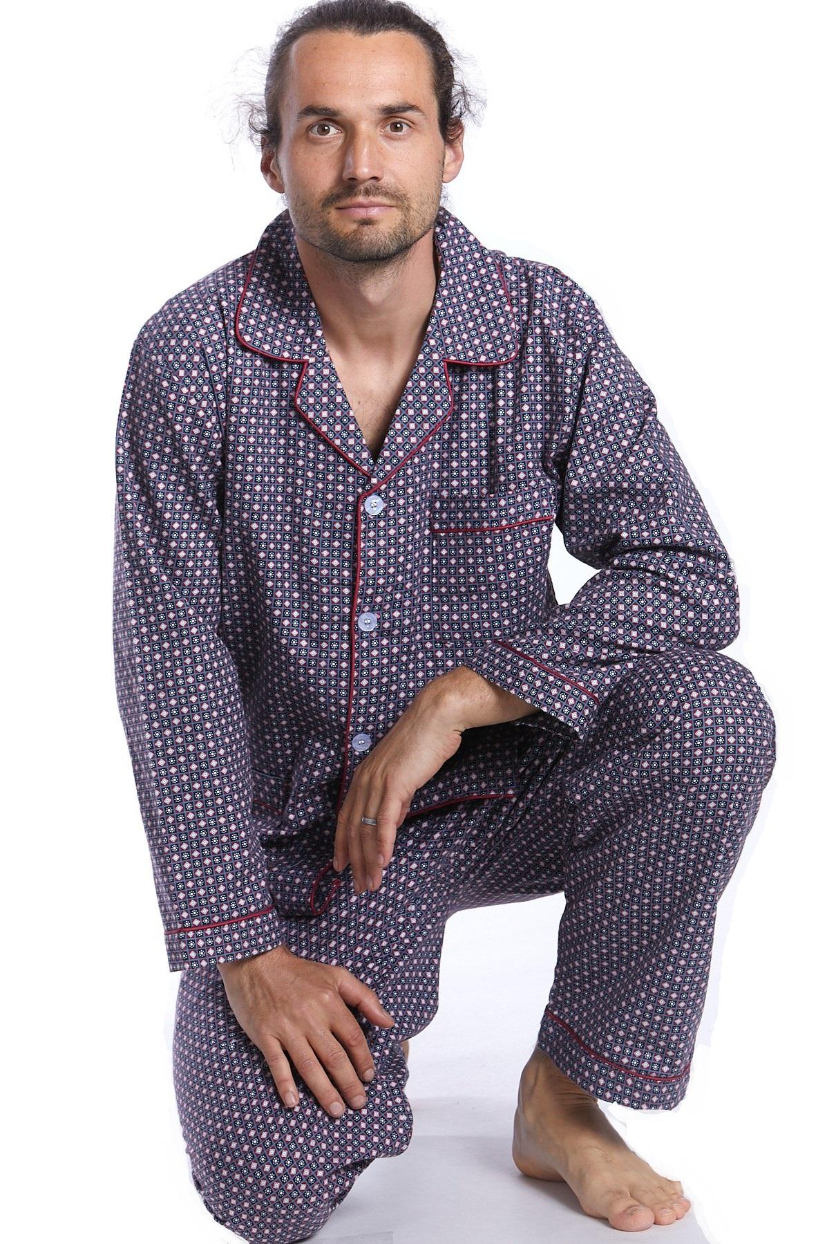 Pánské pyžamo teplé 1P0995