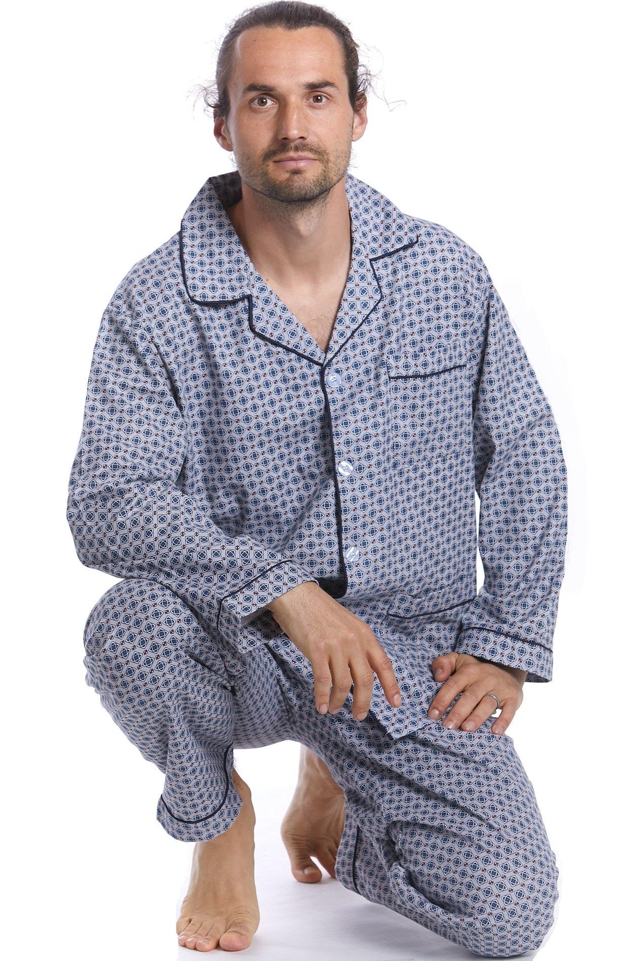 Pánské pyžamo teplé 1P0994