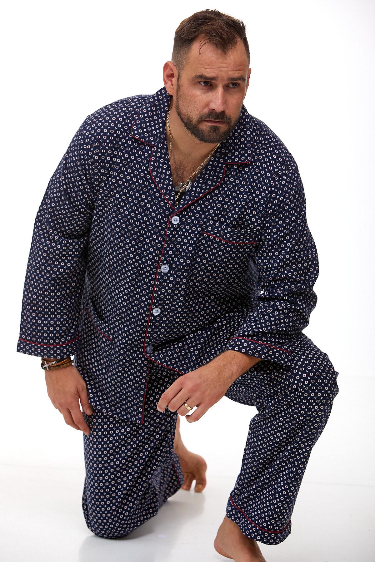 Pánské pyžamo teplé 1P0993