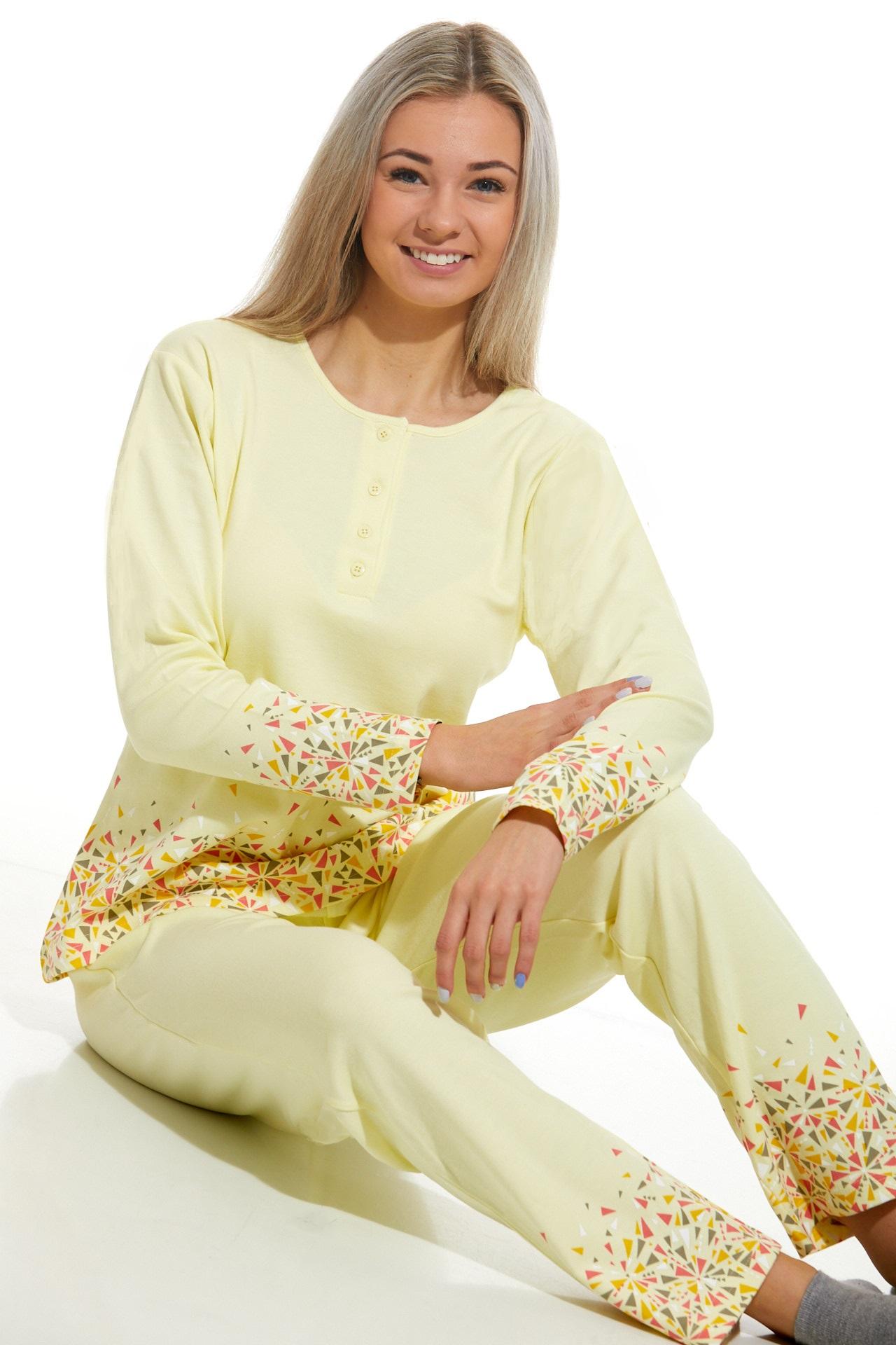 Dámské pyžamo comfort teplé 1B1026