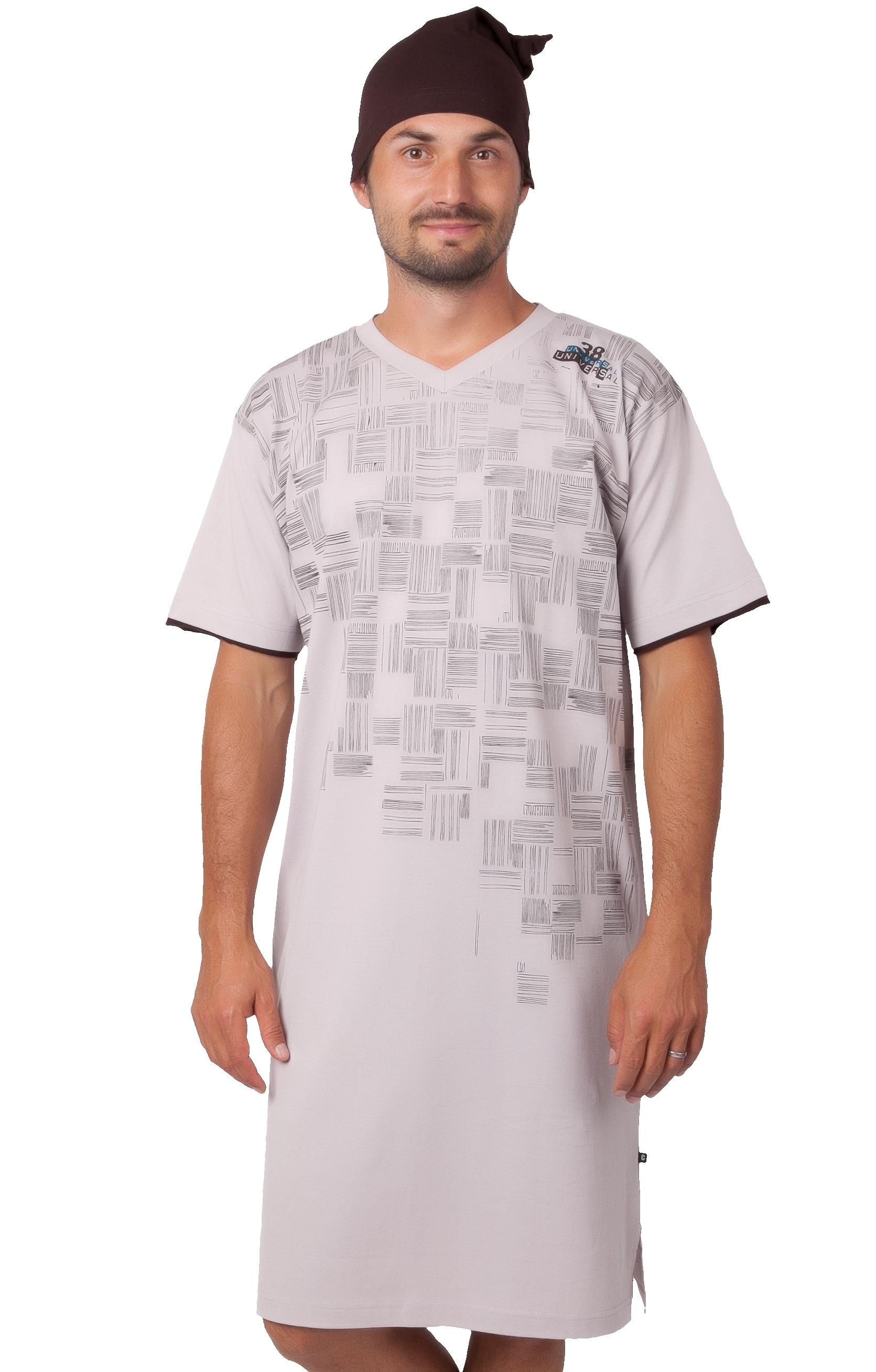 Pánské noční košile s čepičkou 1P1022