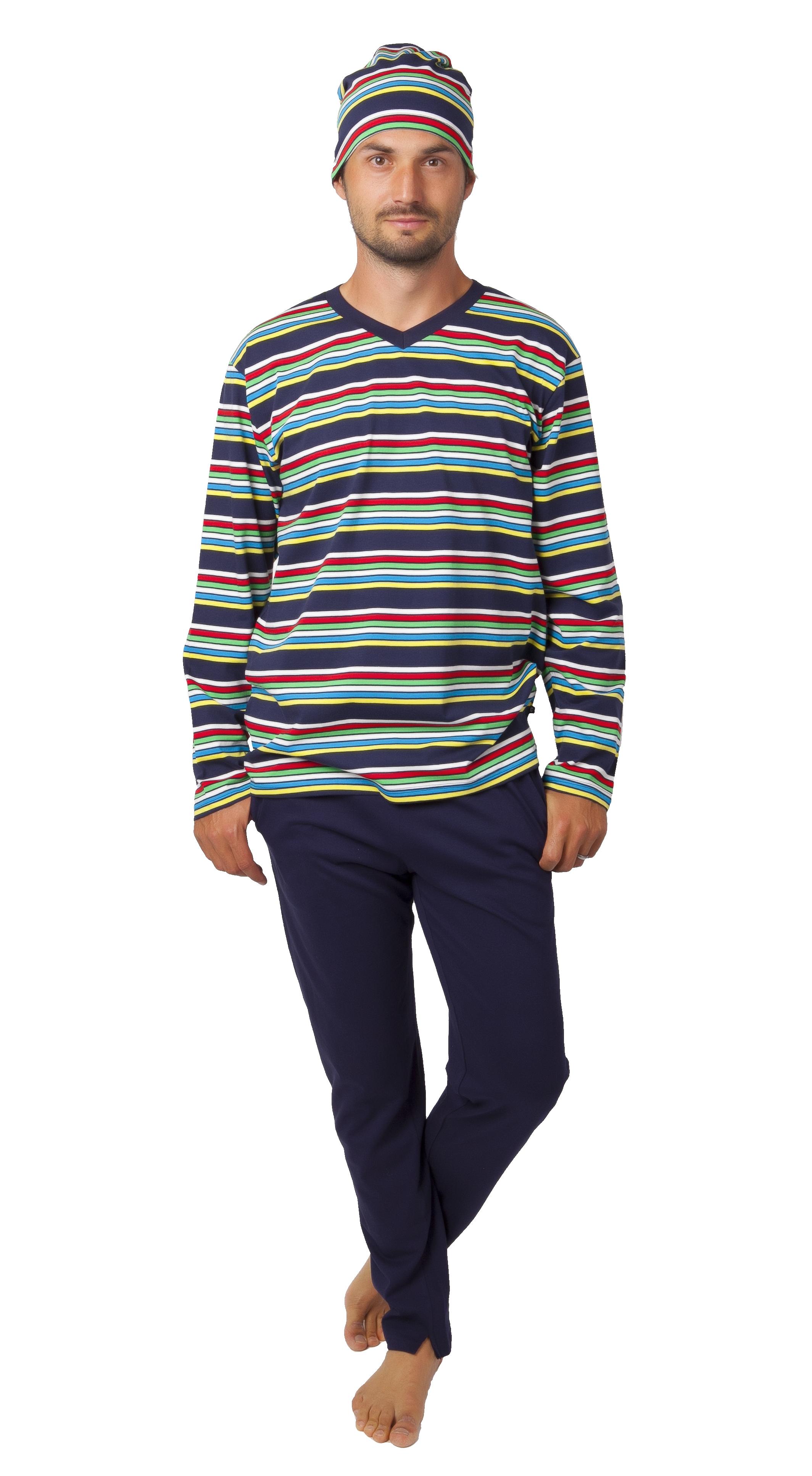 Pyžamo pro muže s čepičkou 1P1029