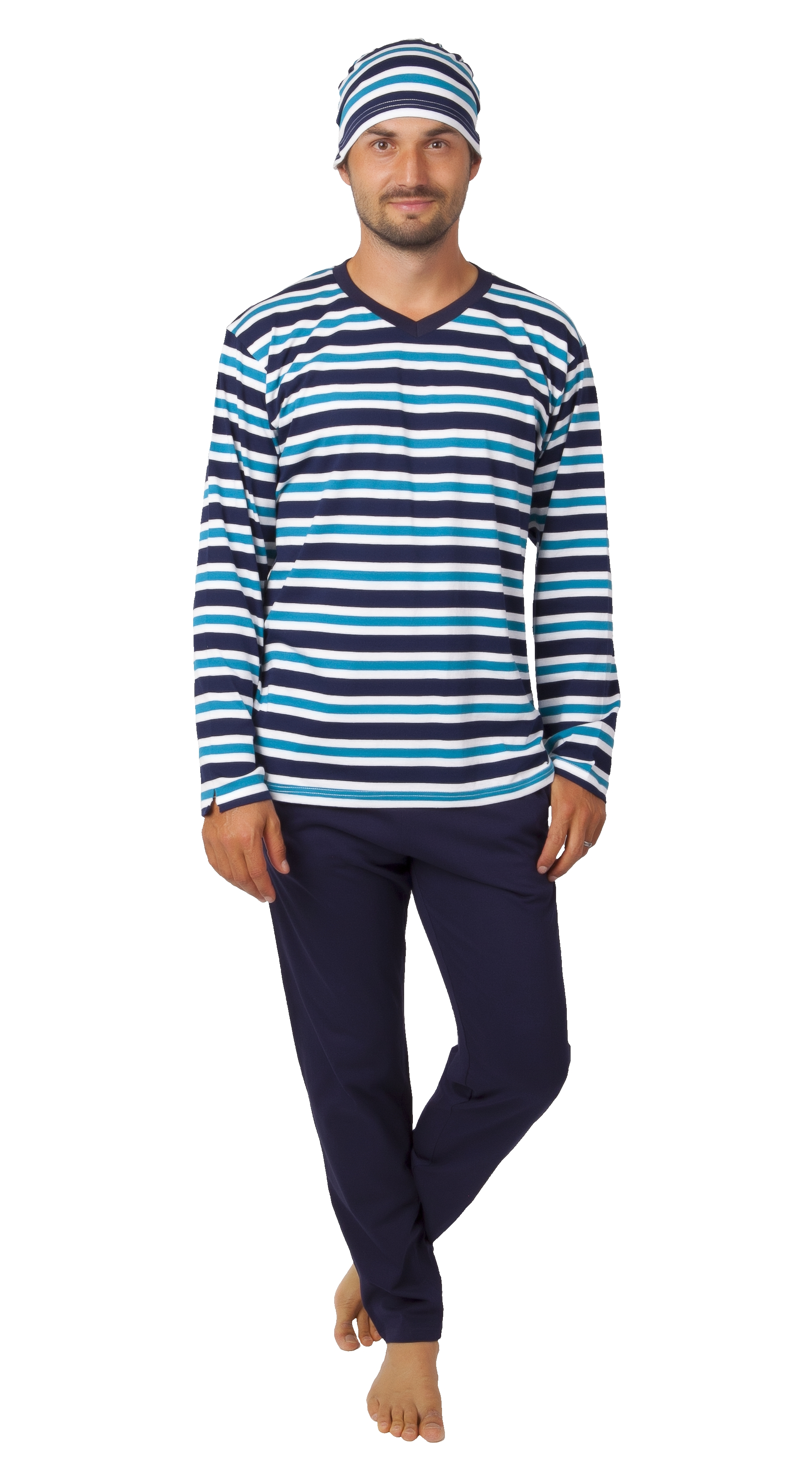 Pyžamo pro muže s čepičkou 1P1028