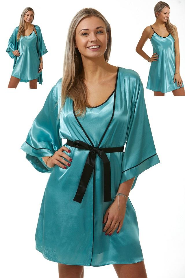 Luxusní košilka a župan v dokonalém kompletu pro ženy 1E8297