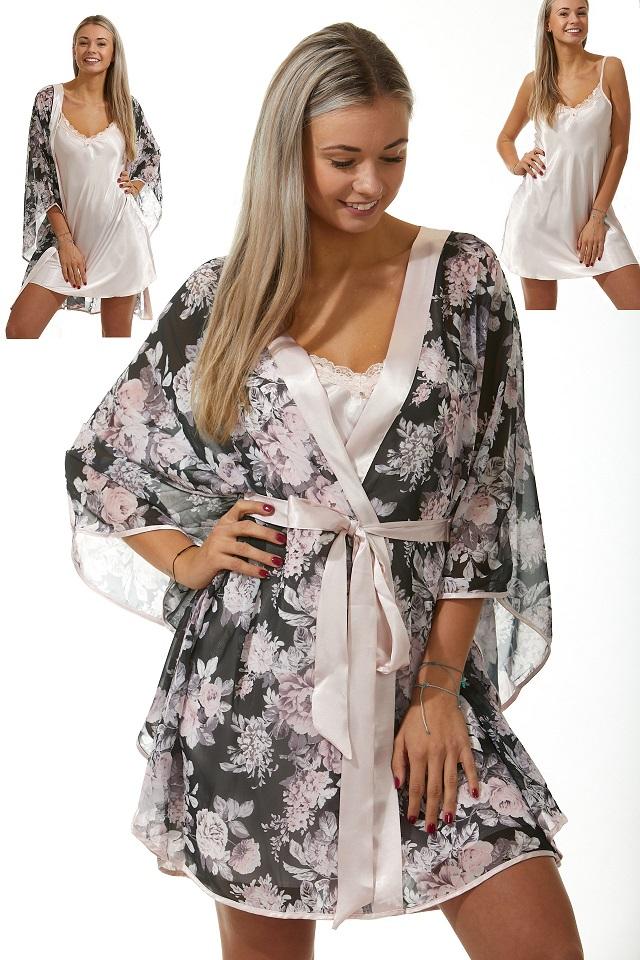 Luxusní košilka a župan v dokonalém kompletu pro ženy 1E8287