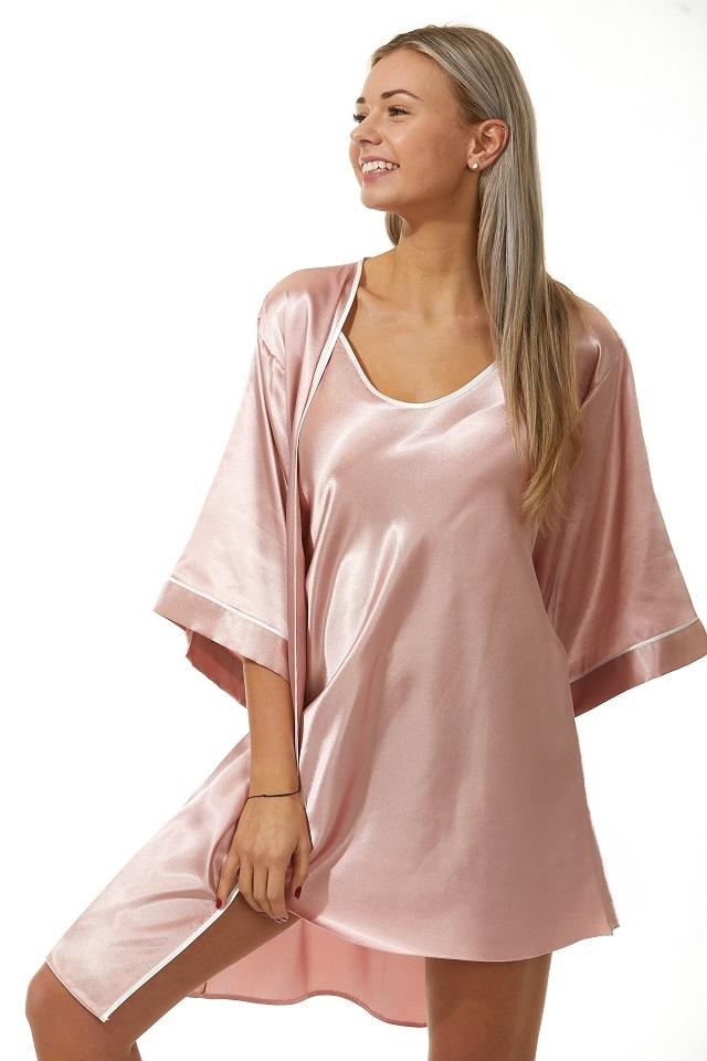 Luxusní košilka a župan v dokonalém kompletu pro ženy 1E8283