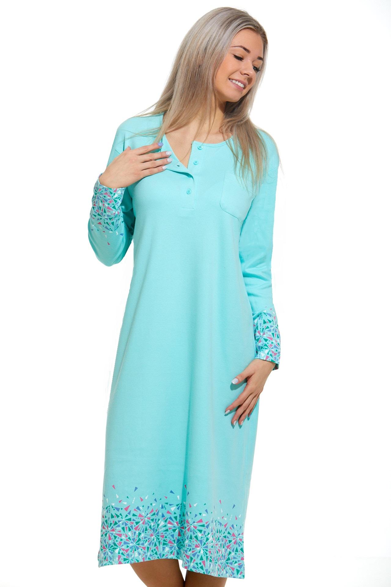 Teplá noční košilka dámská 1C2322
