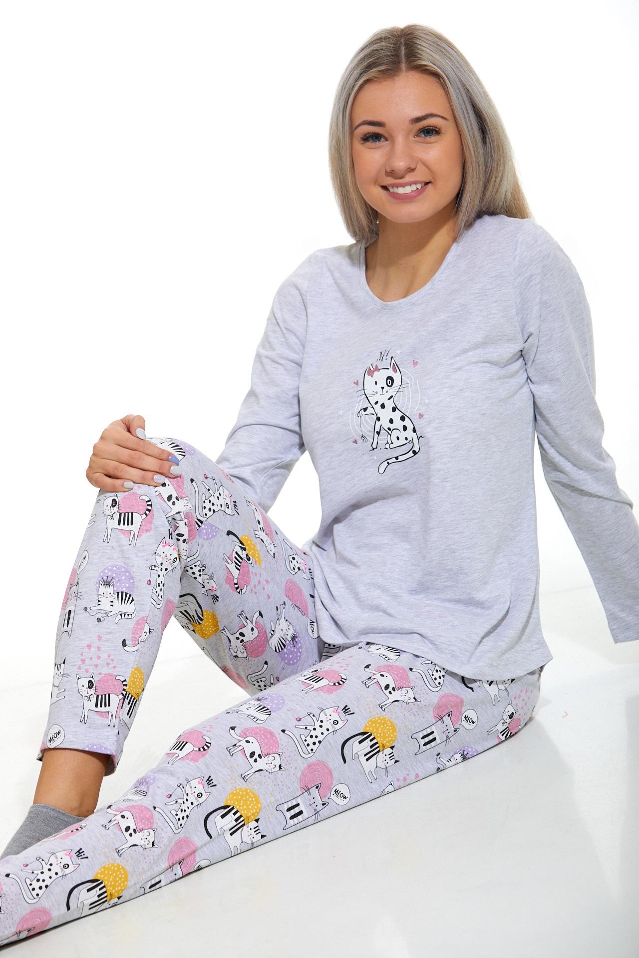 Dámské pyžamo comfort Kočičí 1B1043