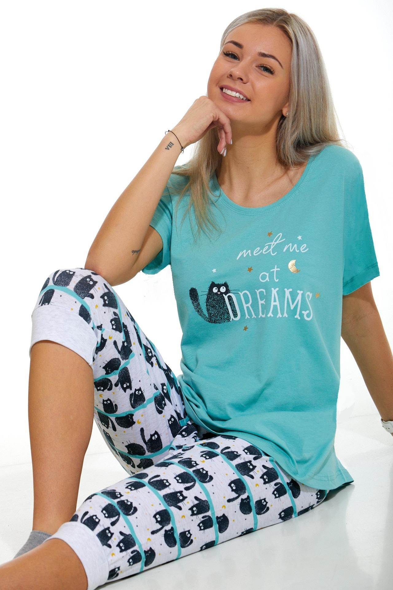 Dámské pyžamo Kočičí 1B1037