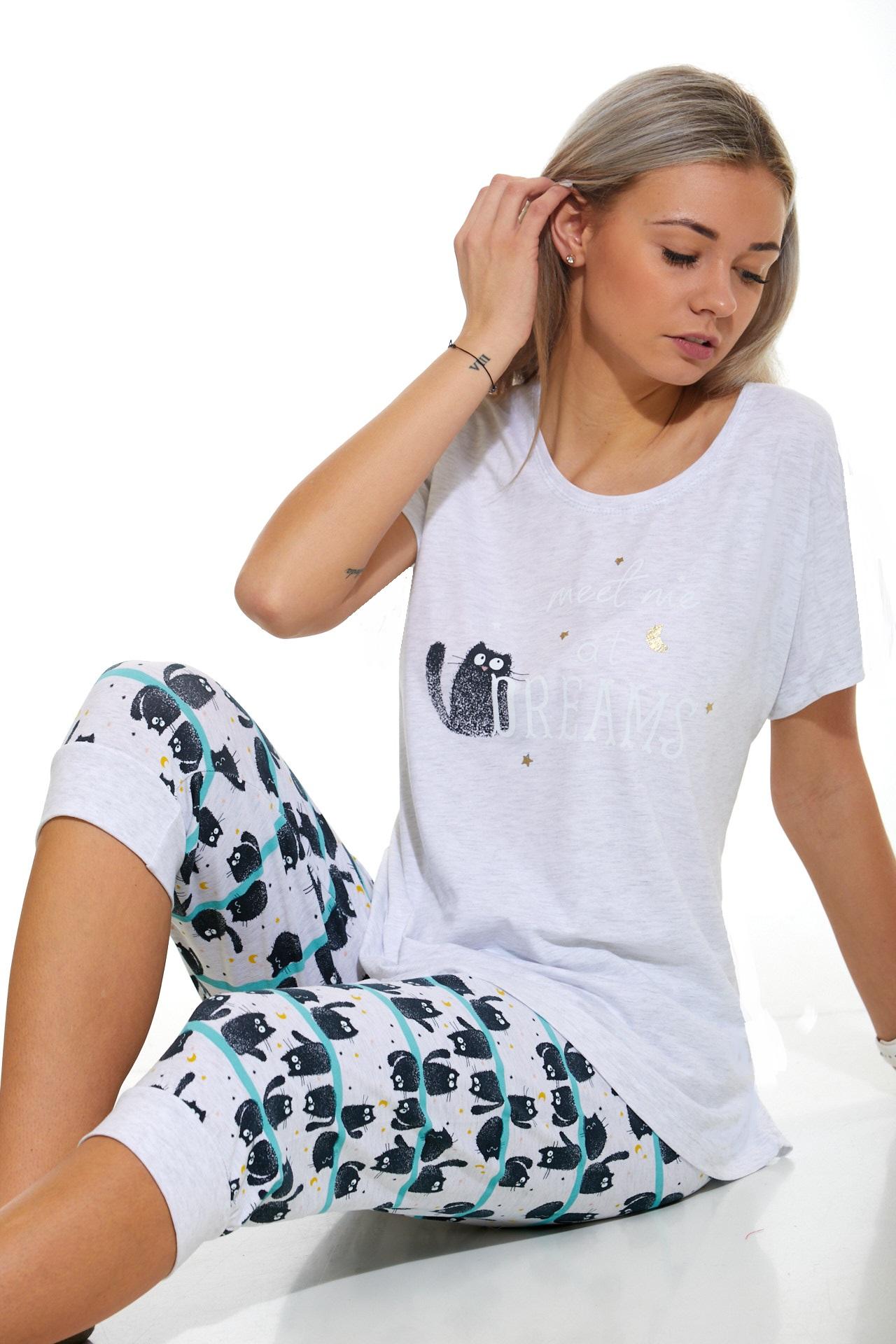 Dámské pyžamo Kočičí 1B1038