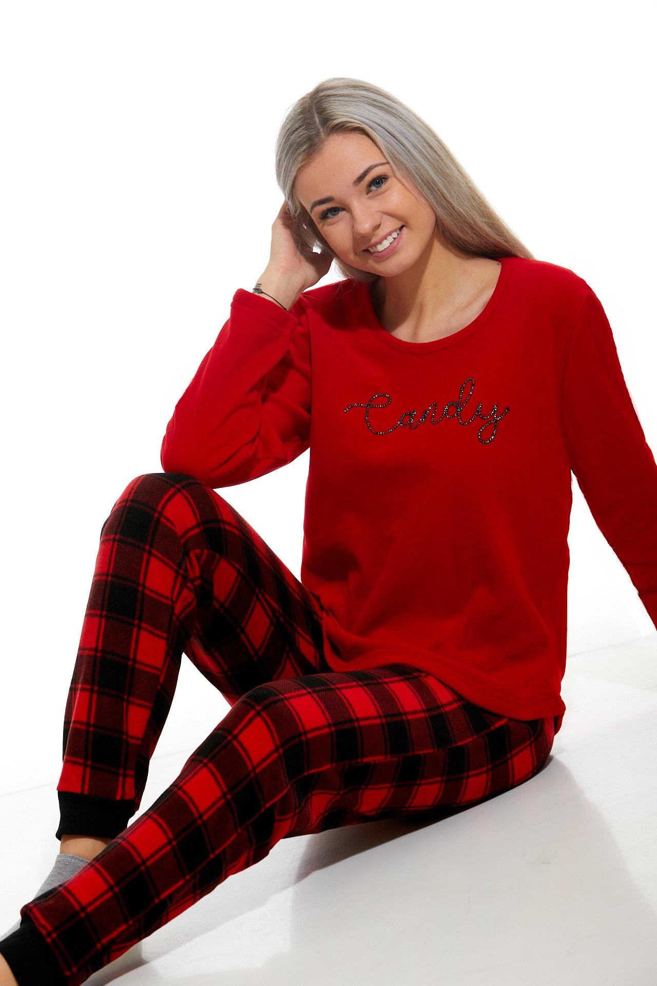 Luxusní hřejivé dámské pyžamo 1B1055